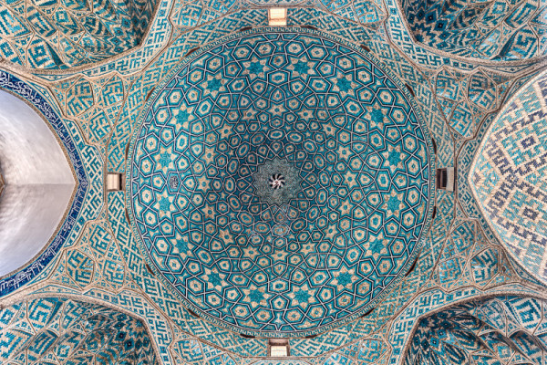 islamic-art-ceiling-of-jame-mosque-of-yazd-iran-by-damon-lynch